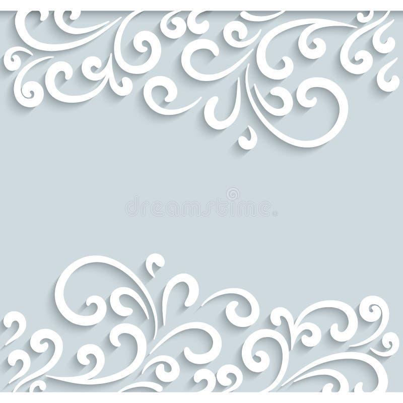 Swirly-Papierrahmen vektor abbildung