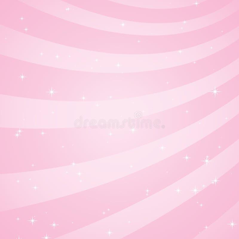 Swirly Rosaplättchen vektor abbildung