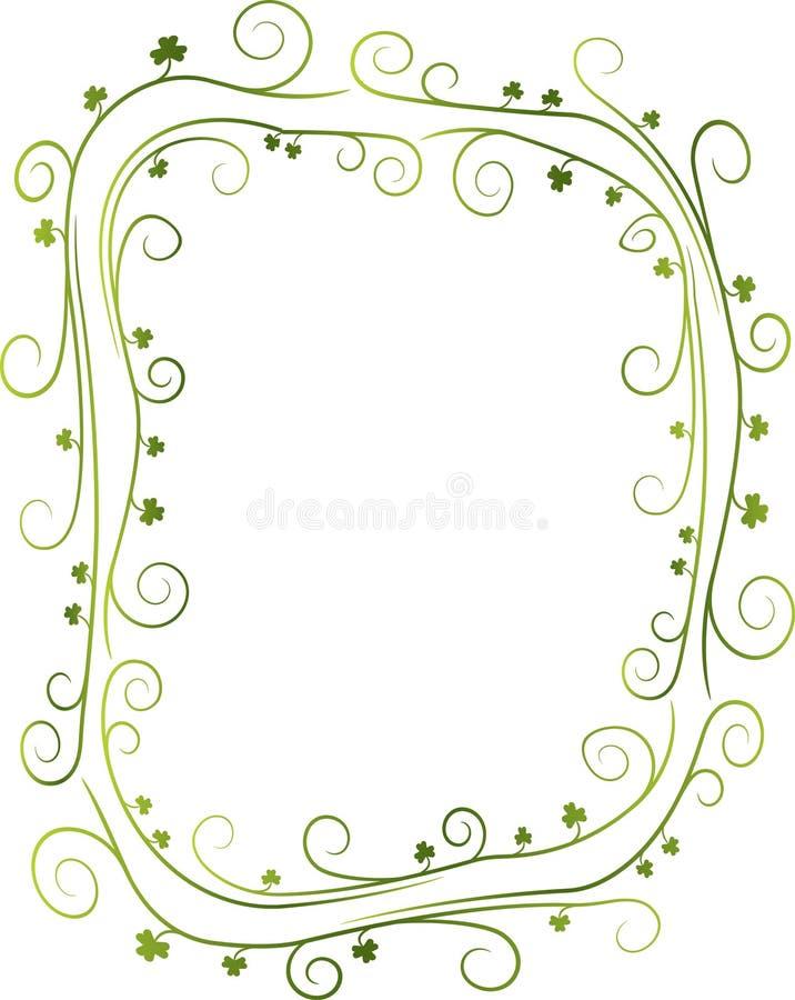 Swirly Shamrock-Rand stock abbildung