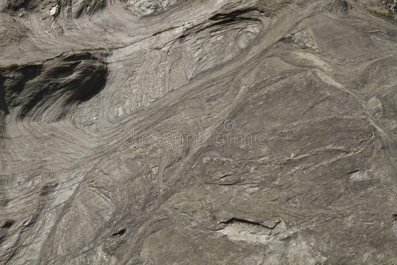 Swirly skały ściany tekstura od Szwajcarskich Alps zdjęcie stock