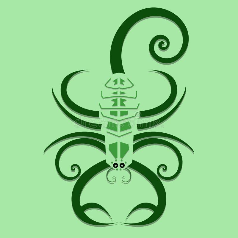 Swirly Skorpion lizenzfreie abbildung