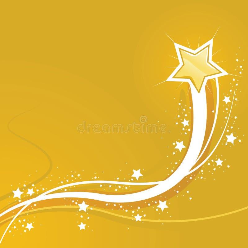 Swirly Stern-Gelb-Hintergrund lizenzfreie abbildung