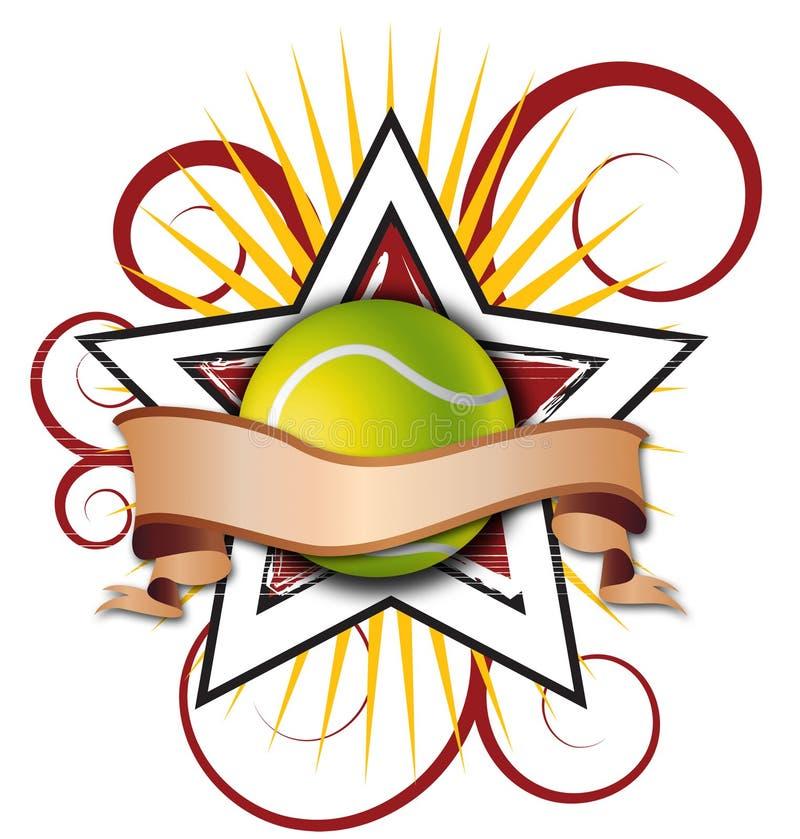 Swirly Stern-Tennis-Abbildung vektor abbildung