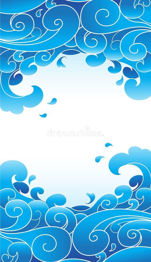swirly tła błękit royalty ilustracja
