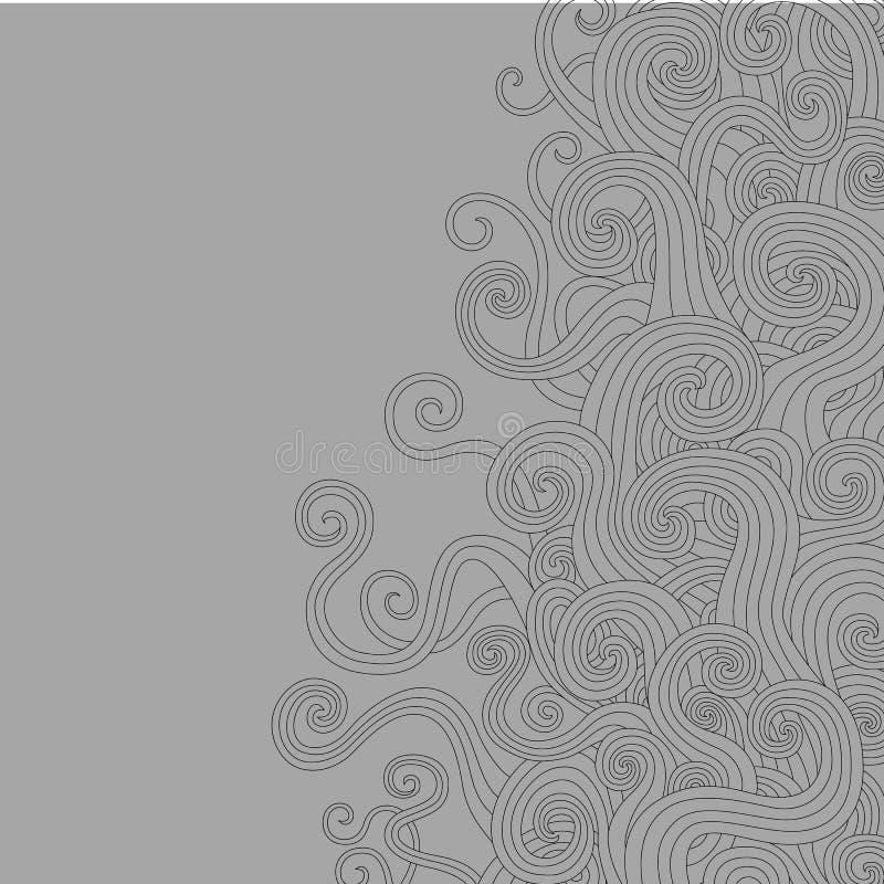 Swirly Wellen lizenzfreie abbildung