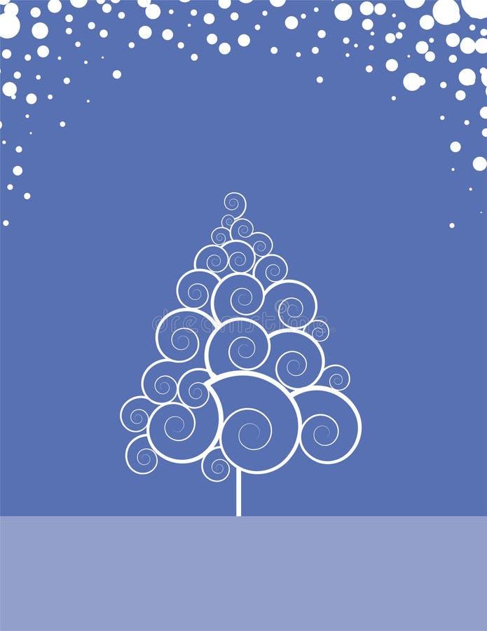 Swirly Winter-Baum vektor abbildung