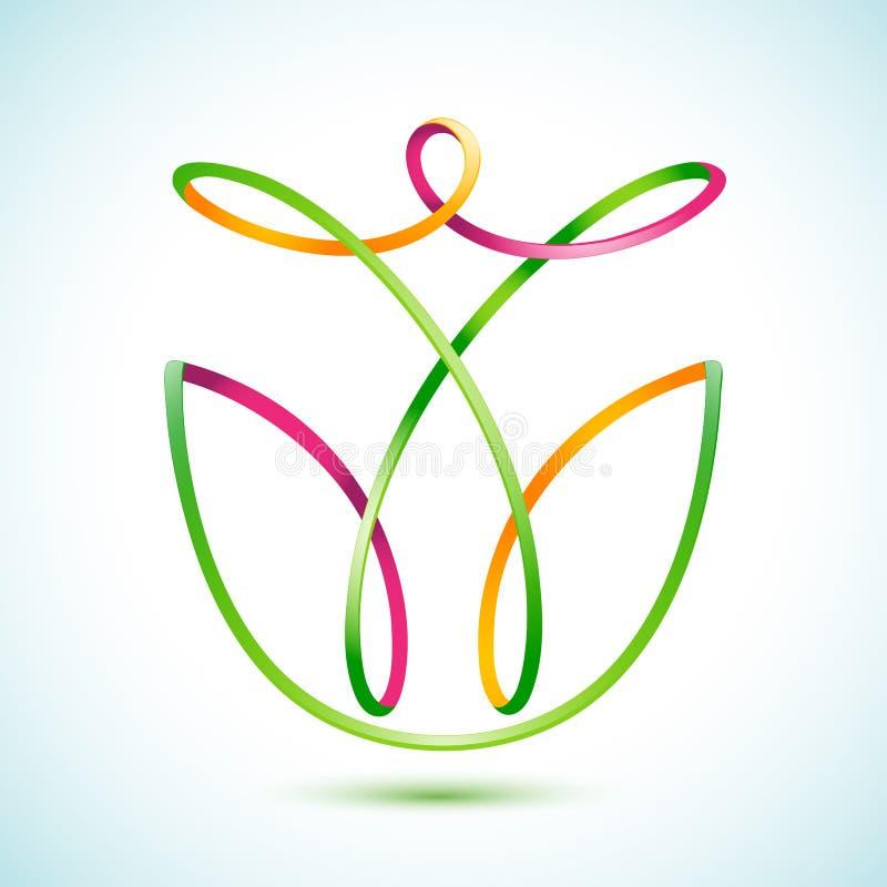 Swirly-Zahl in einer Blume vektor abbildung