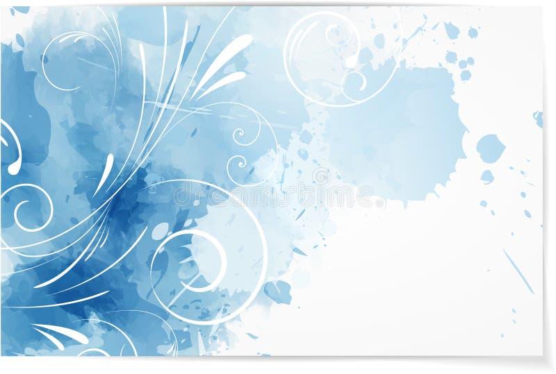 Swirly-Zusammenfassungs-Aquarellhintergrund vektor abbildung