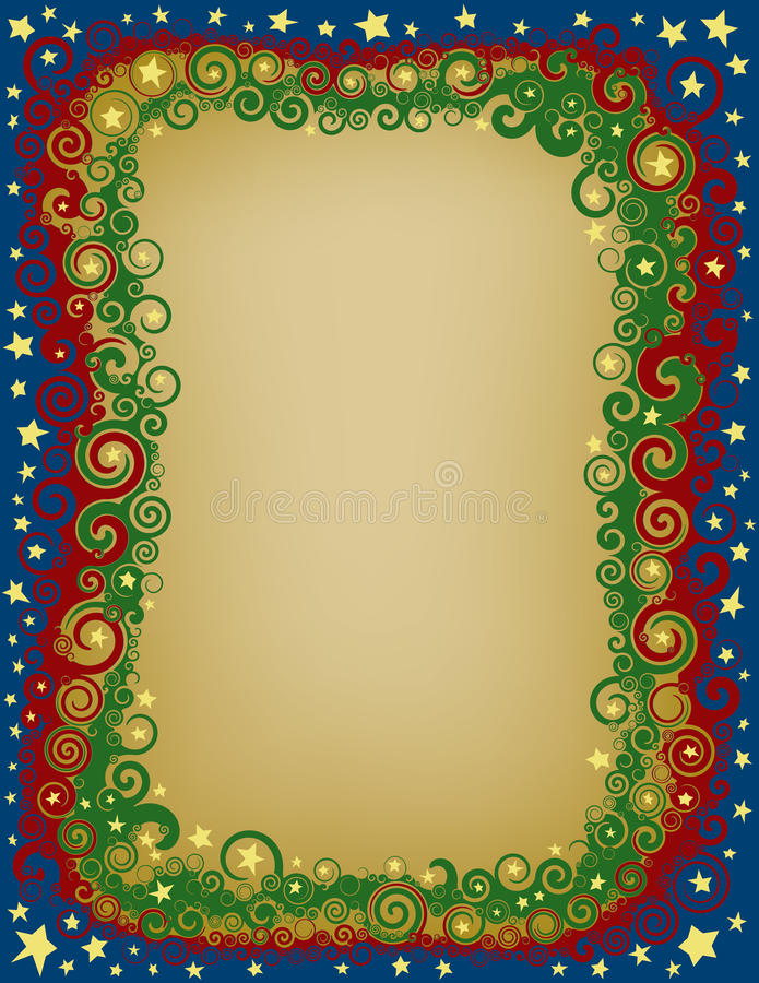 Download Swirlykerstmis Eve Border vector illustratie. Illustratie bestaande uit twirly - 39113869