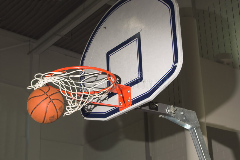 Swish do basquetebol imagem de stock