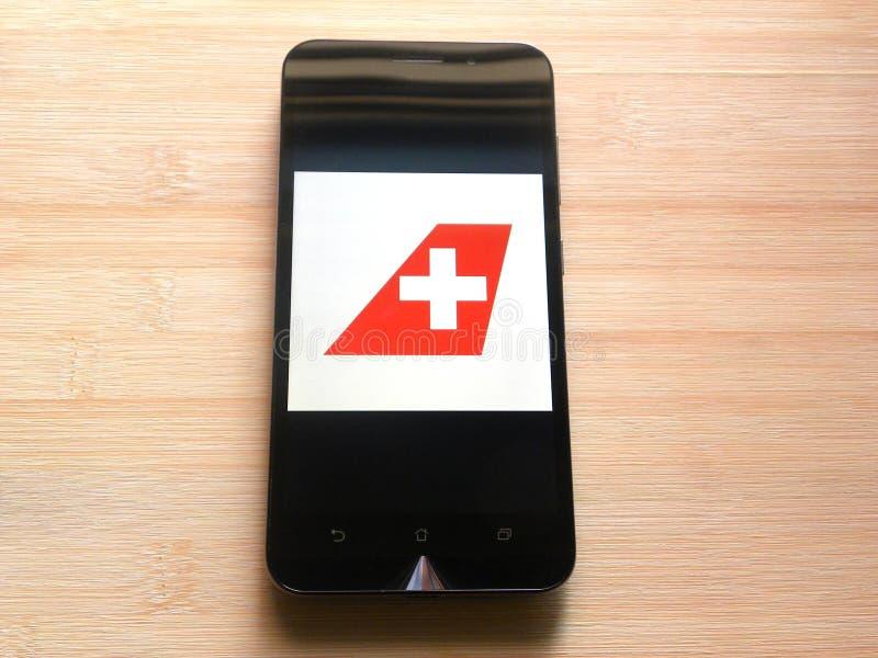 Swiss Air linie obrazy royalty free