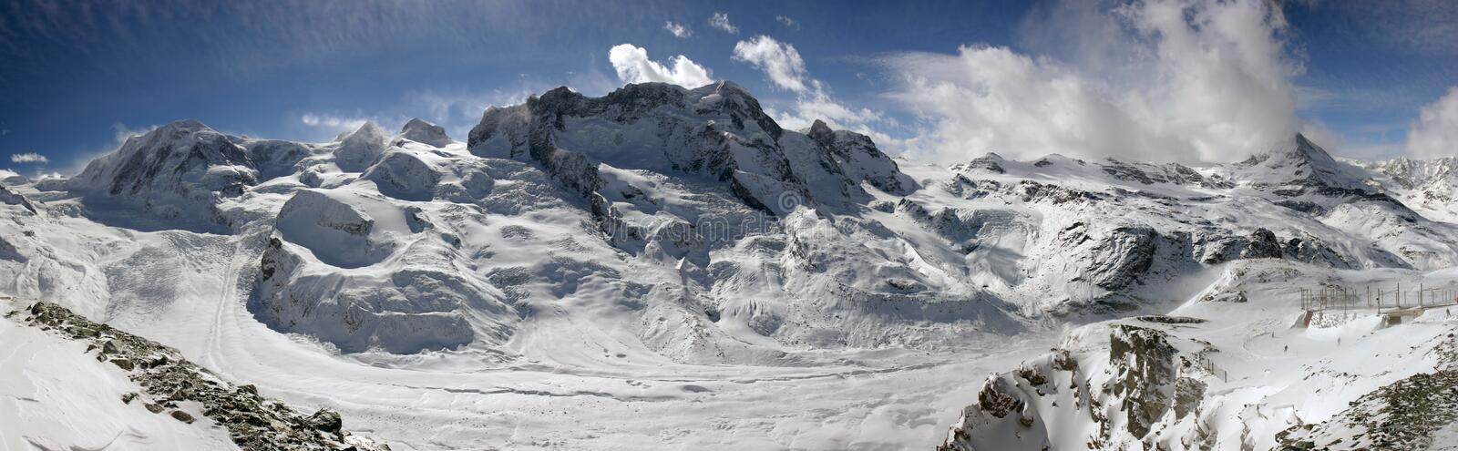 Download Swiss alpine panorama stock photo. Image of aerial, slopes - 2022656