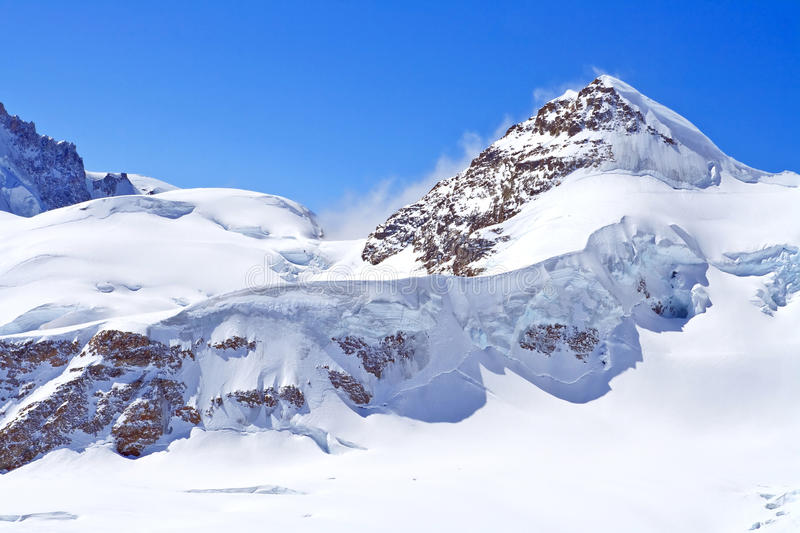 The Swiss Alps at Jungfrau region royalty free stock photography