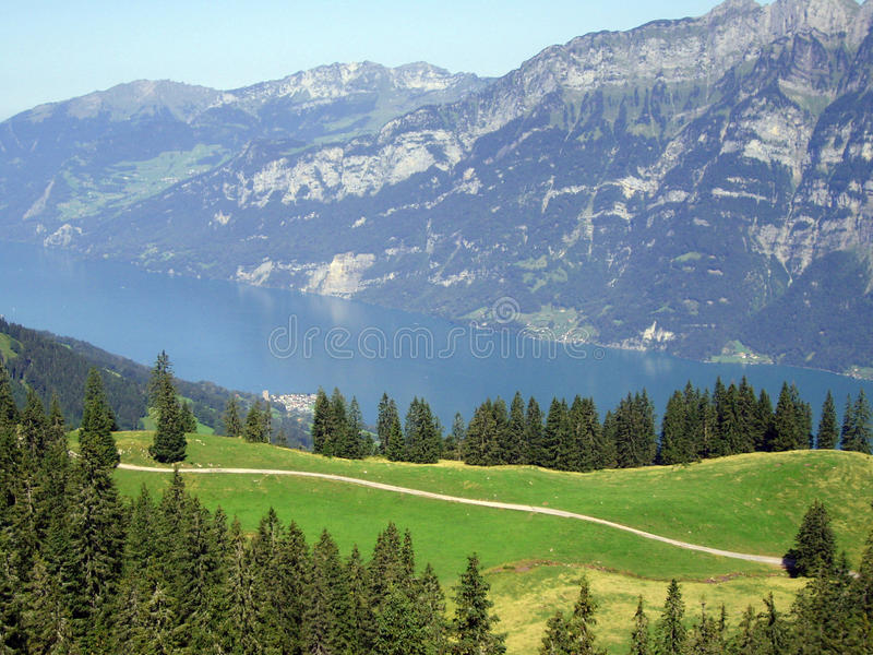 Swiss Alps Mountain and lake landscape royalty free stock images