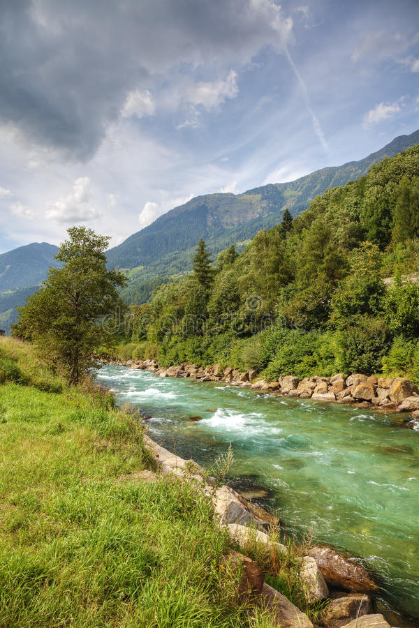Download Swiss Alps river. stock image. Image of scenery, ecology - 22627583