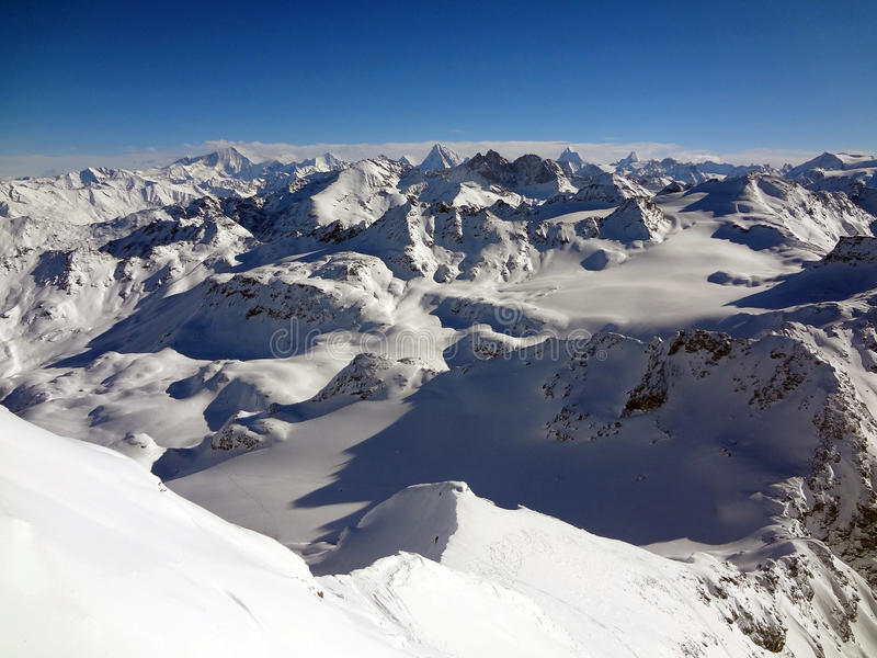 Swiss Alps View Stock Image