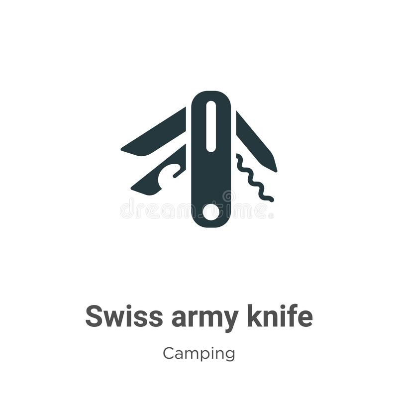Free Swiss Army Knife Vector Icon On White Background. Flat Vector Swiss Army Knife Icon Symbol Sign From Modern Camping Collection For Stock Photography - 162006552