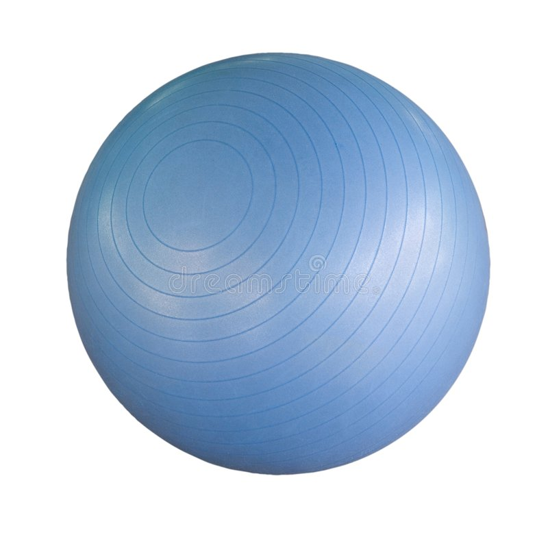 Swiss ball isolated royalty free stock photography