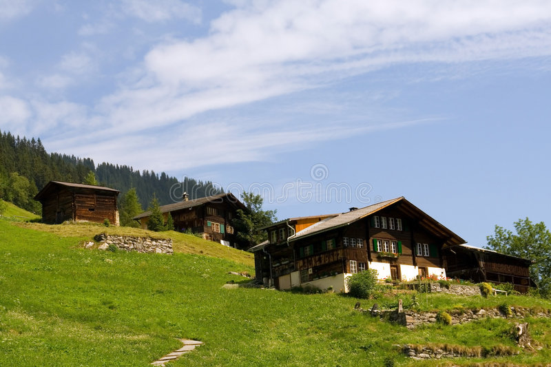 Swiss chalet royalty free stock photos