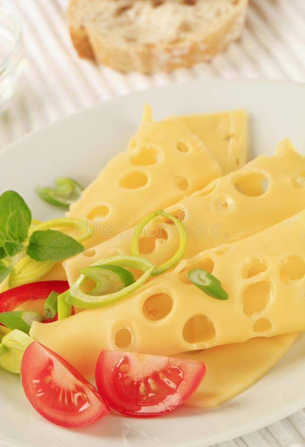 Download Swiss cheese stock image. Image of food, slices, placemat - 23266437