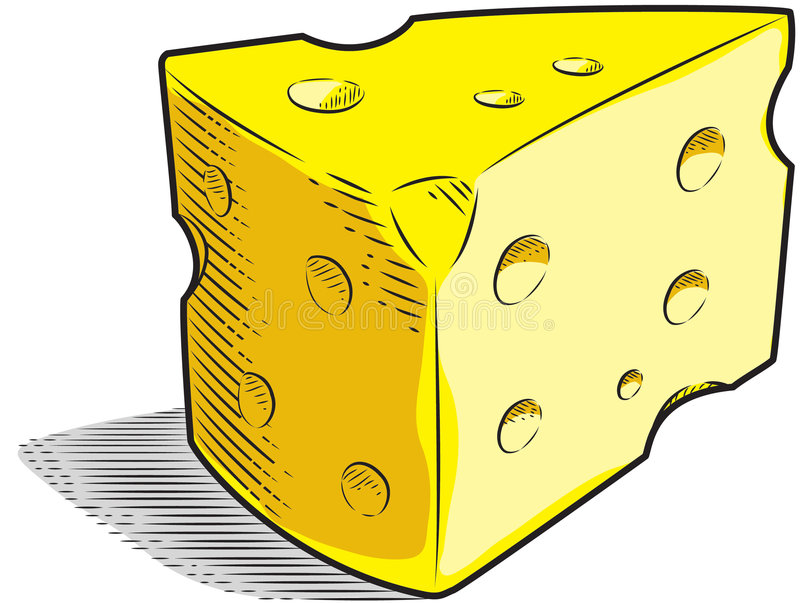 Download Swiss Cheese stock vector. Image of color, yellow, line - 6679128