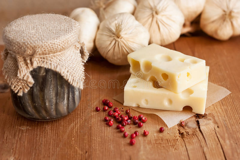 Download Swiss Cheese With Garlic And Anchovy Stock Photo - Image: 15133130