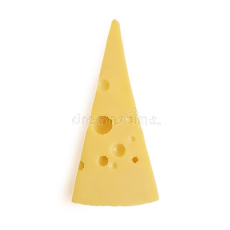 Swiss cheese piece isolated refreshment triangle product delicatessen royalty free stock photography