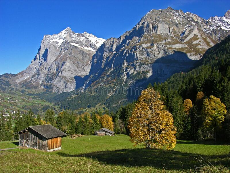 Swiss countryside stock images