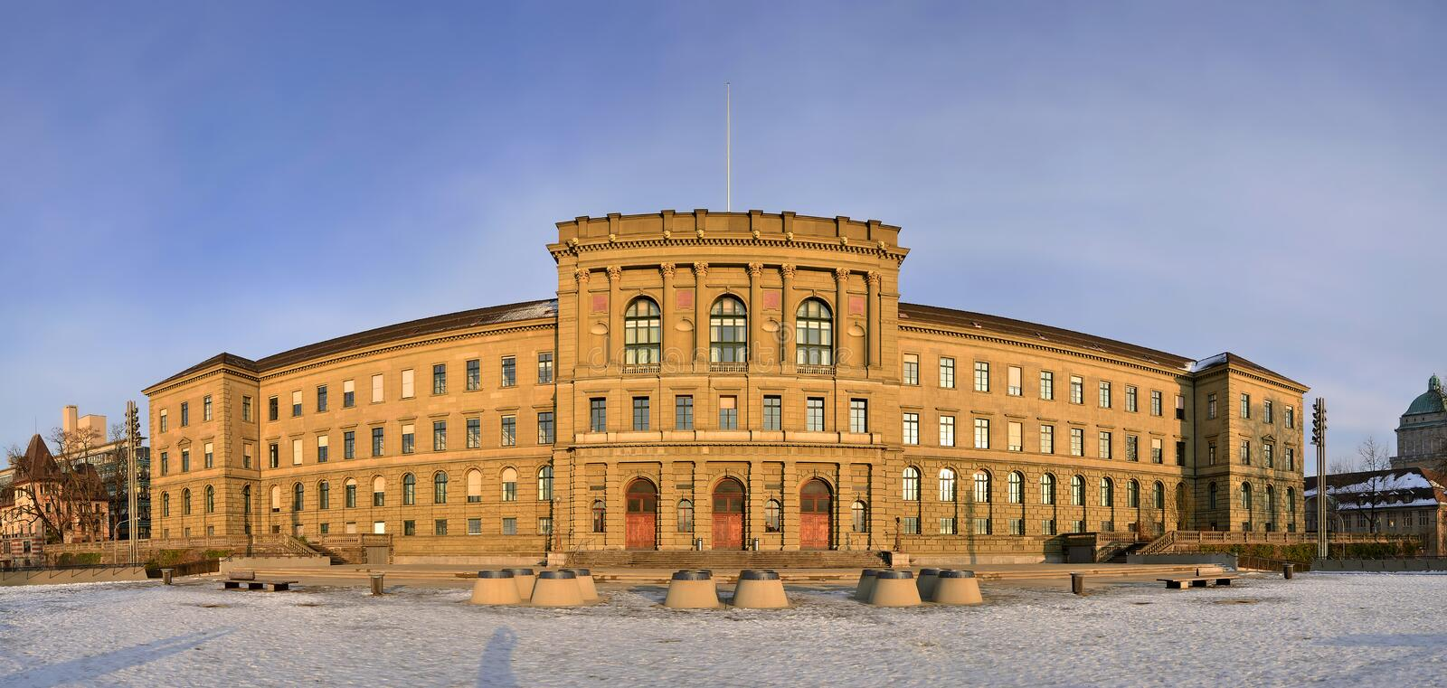 Swiss Federal Institute Of Technology Main Buildin royalty free stock photos