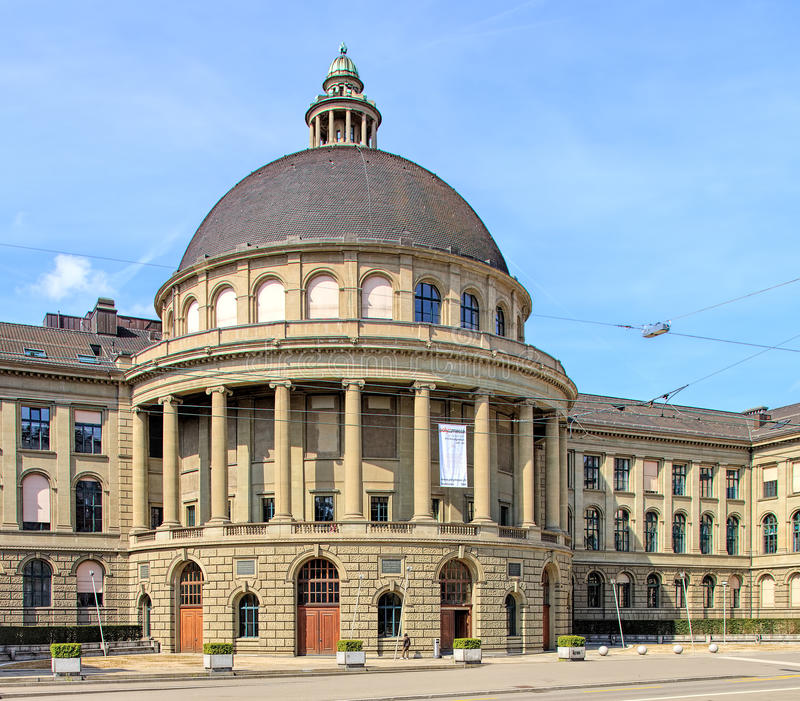 Swiss Federal Institute of Technology in Zurich building royalty free stock photography