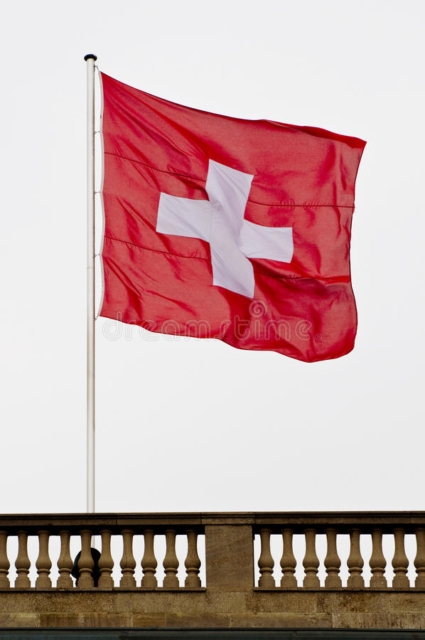 Download Swiss flag stock photo. Image of high, swiss, neutrality - 14022424