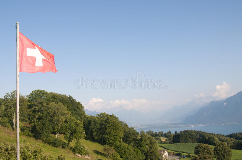 The Swiss Flag royalty free stock photography