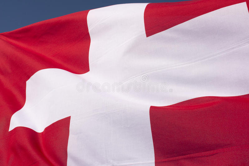Swiss flag. Close up image of a Swiss flag royalty free stock photography