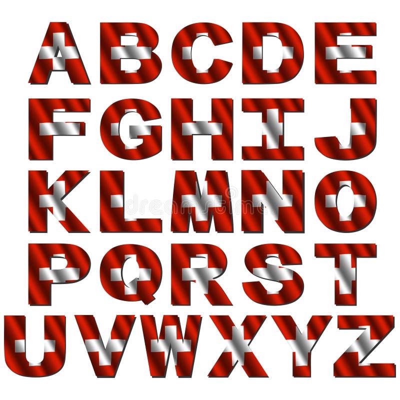 Download Swiss flag font stock illustration. Image of rippled - 10176504