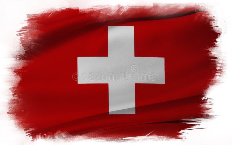 Swiss flag. On plain background stock image