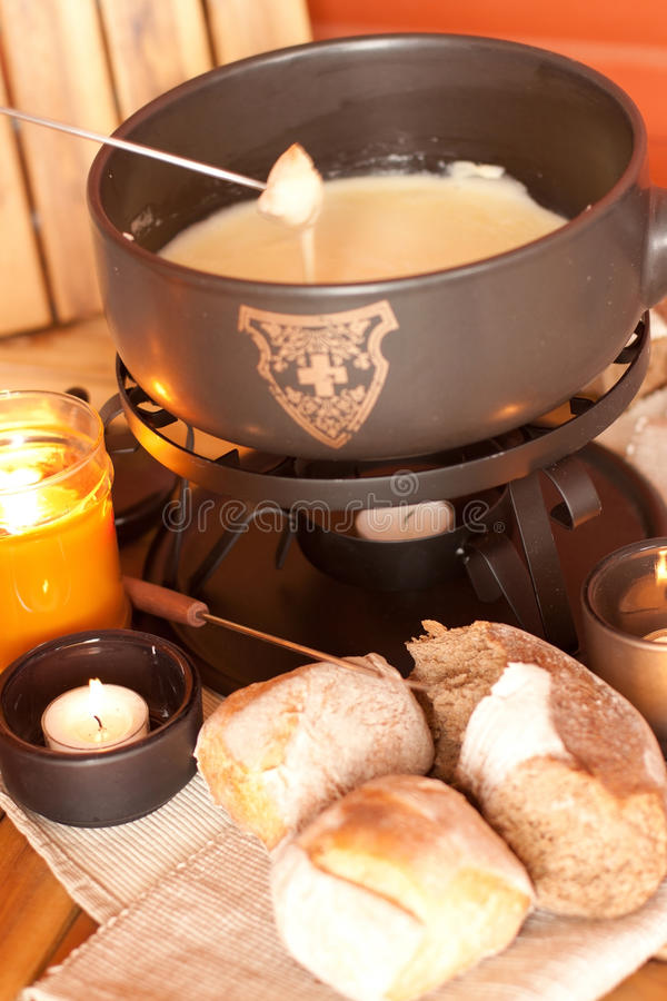 Swiss Fondue stock photography