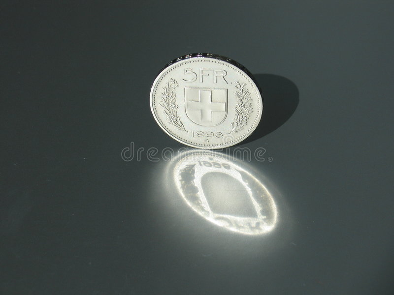 Download Swiss Franc stock photo. Image of switzerland, swiss, coin - 12074