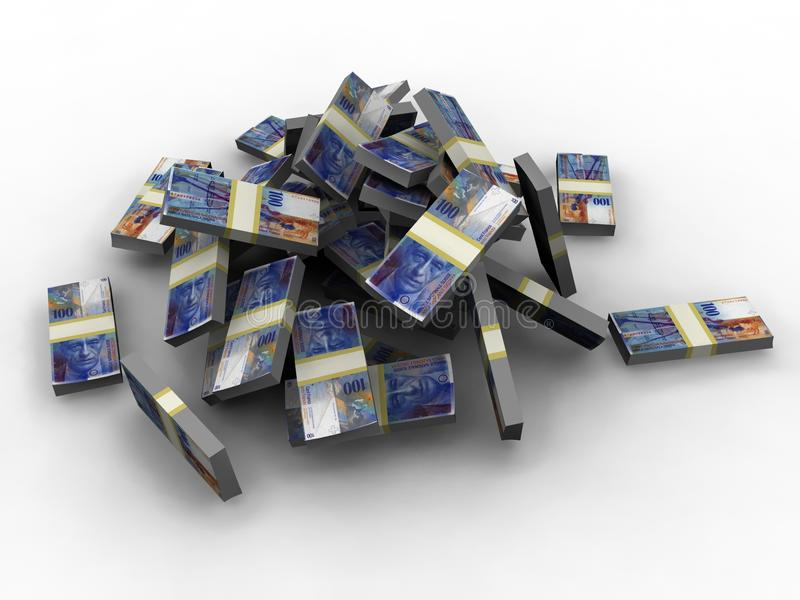 Swiss Francs royalty free illustration