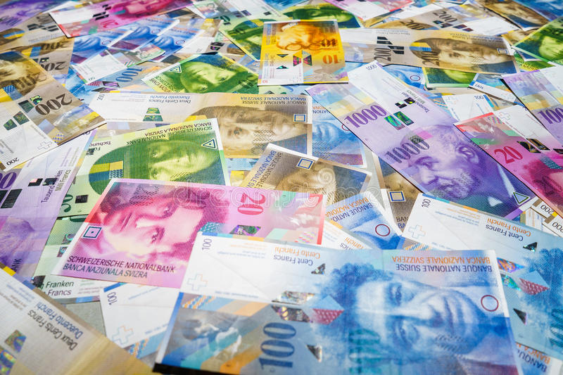 Swiss Francs royalty free stock images