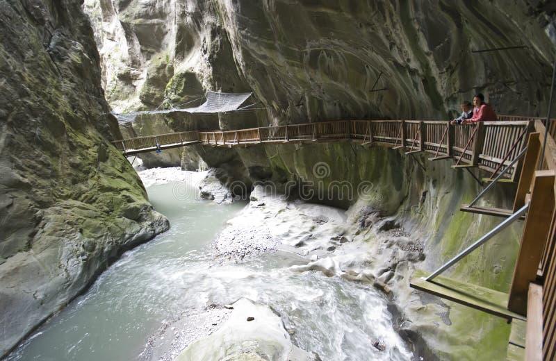 Swiss Gorges du Trient fotografía de archivo