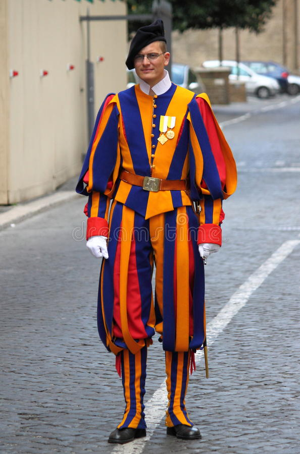 Swiss Guard in Vatican city royalty free stock photos