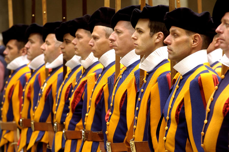 SWISS GUARDS royalty free stock photography