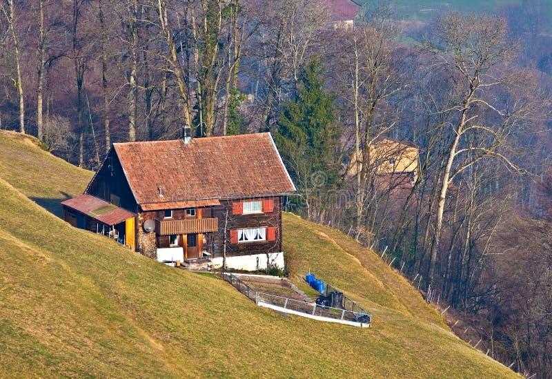 Swiss house stock photo