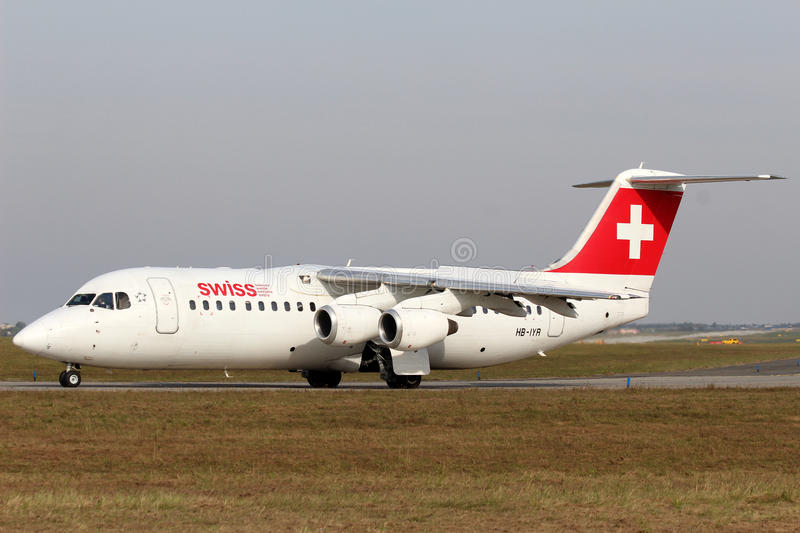 Swiss International Air Lines royaltyfria bilder