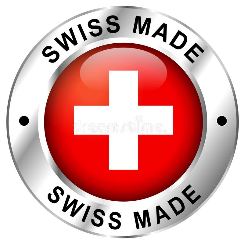 Swiss made icon royalty free illustration