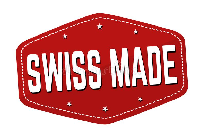 Swiss made sign or stamp stock illustration