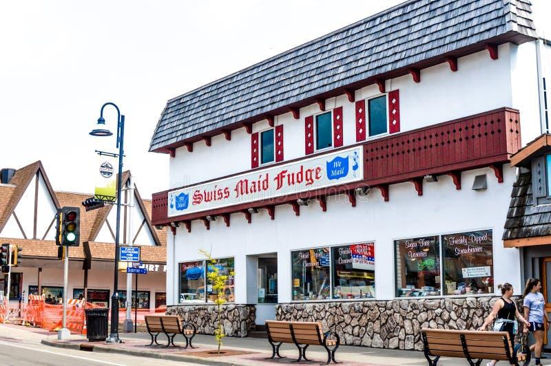 Swiss Maid Fudge Store - Wisconsin Dells royalty-vrije stock foto's
