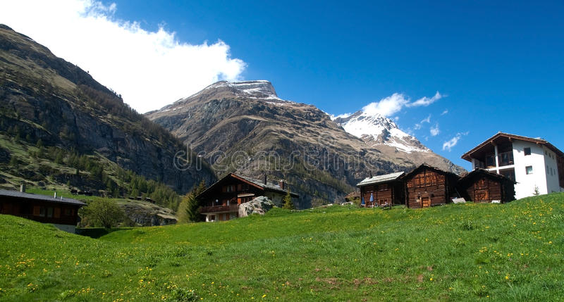 Swiss Mountain Chalets royalty free stock photo