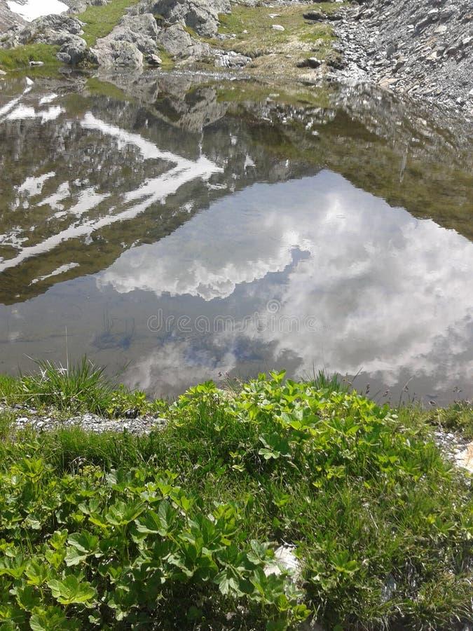 Swiss mountain lake royalty free stock photos