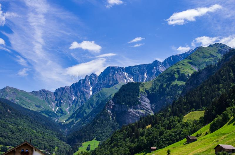 Swiss mountain landscape royalty free stock image